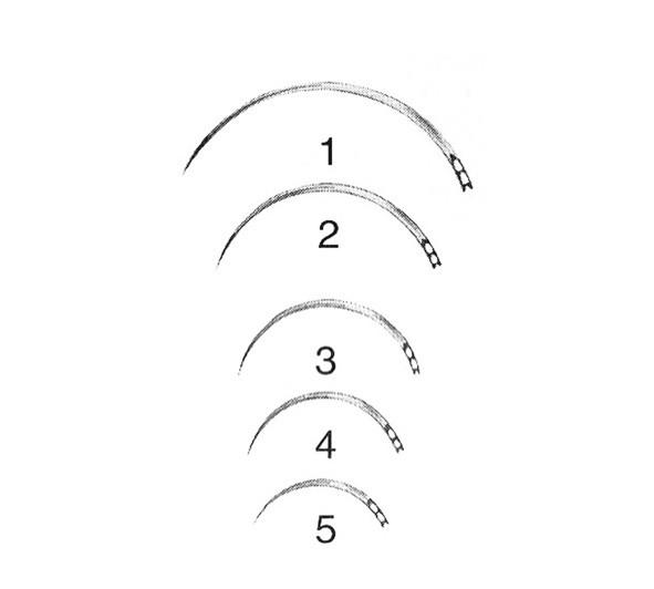 Augennadel BL603N 3/8-Kreis Dreikant Gr. 12 Stück