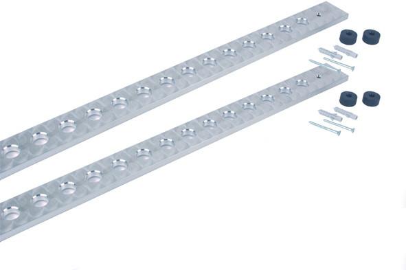 Stock-Wandhalter für 15 Trachealtuben Al 1 Stück