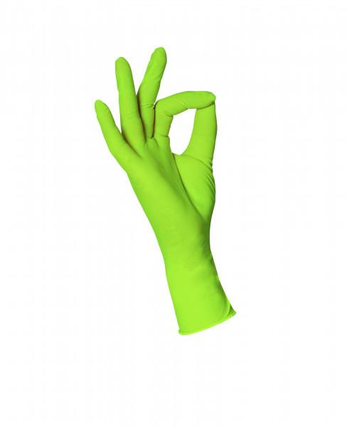 Nitril US-Handschuhe Apfelgrün L 100 Stück