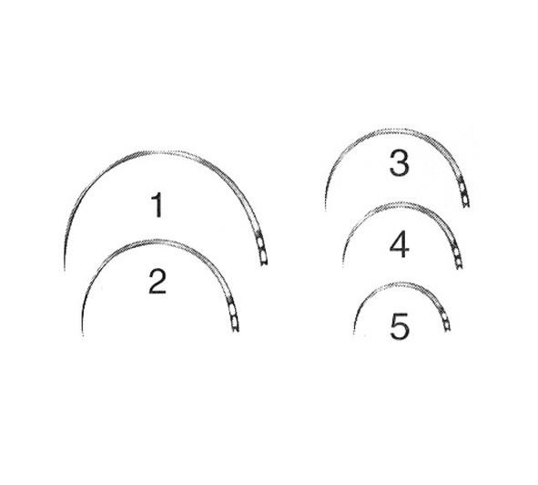 Augennadel BL615N 1/2-Kreis Dreikant Gr. 12 Stück