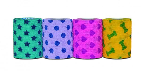 PetFlex 10 cm PetPack kohäsive Bandage 18 Stück