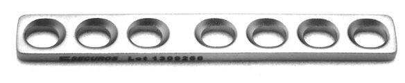 DCP-Platte mit Steg D 2.0mm, 5 Loch 1 Stück